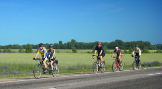 Riding with Penza cycling club members