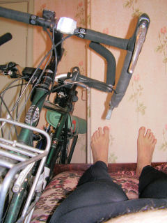 bicycle in the room